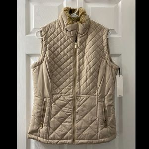 Tan winter vest! CALVIN KLEIN